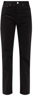 Totême Ease Straight-leg Jeans - Black