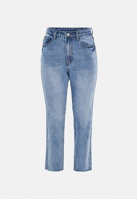 Missguided Blue Slim Straight Fit Jeans