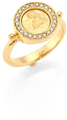 Temple St. Clair Angel Diamond & 18K Yellow Gold Ring