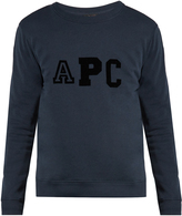 A.P.C. Sweat College cotton-blend sweatshirt