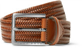 HUGO BOSS 3.5cm Brown Semyo Woven Leather Belt