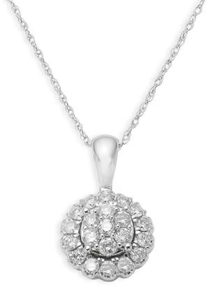 Saks Fifth Avenue 14K White Gold Diamond Circular Pendant Necklace