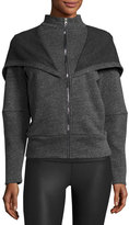 Alo Yoga Chill Hooded Zip-Front Jacket, Charcoal