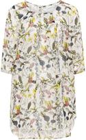 Junarose Plus Size Printed sheer chiffon tunic