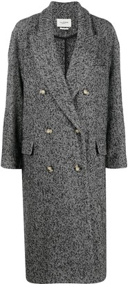 Etoile Isabel Marant Faby herringbone double-breasted coat