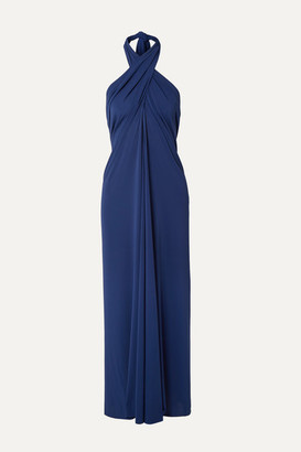 Eres Caro Convertible Stretch-jersey Halterneck Midi Dress - Royal blue
