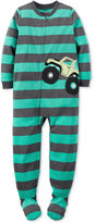Carter's Boys' or Little Boys' 1-Pc. Striped Monster Truck Footed Pajamas