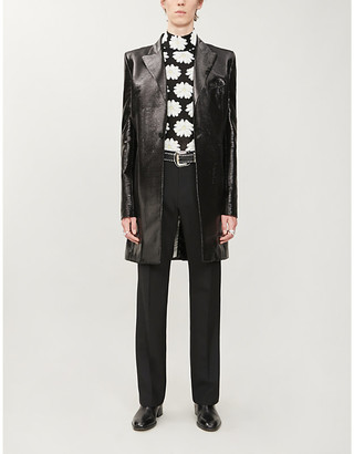 Paco Rabanne Tailored woven coat
