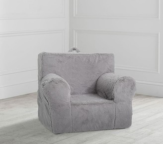 Pottery Barn Kids My First Gray Faux-Fur Anywhere Chair Slipcover Only