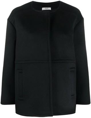 Prada Pre Owned Single-Breasted Oversized Coat