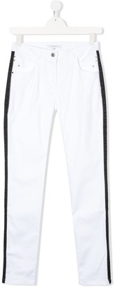 Givenchy Kids Straight Leg Side Stripe Jeans