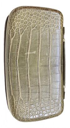 Perrin Paris Green Leather Travel bags