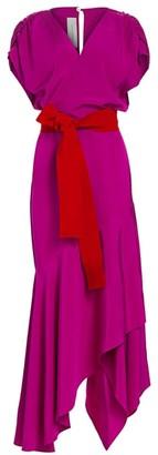 Silvia Tcherassi Eliana Handkerchief Hem Midi Dress