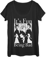 Fifth Sun Black Disney 'It's Fun Being Bad' Tee - Juniors