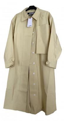 Jacquemus Le coup de soleil Yellow Cotton Trench Coat for Women