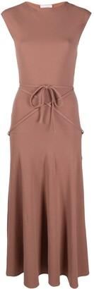 Lemaire Tie-Detail Mid-Length Dress
