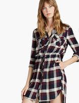 Lucky Brand Plaid Button Front Dress