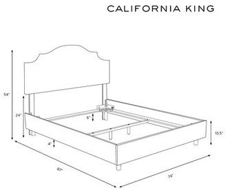 Wayfair Custom UpholsteryTM Tufted Notched Upholstered Standard Bed Wayfair Custom Upholstery Size: California King, Body Fabric: Premier Chocolate