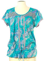 Nine West Marissa Short Sleeve Lace Blouse