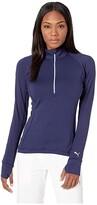 Puma Rotation 1/4 Zip (Medium Gray Heather) Women's Clothing