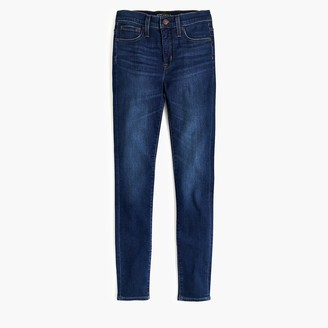 "J.Crew Petite 9"" high-rise skinny jean in perfect blue wash"