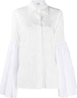 Loewe Bell Sleeve Poplin Shirt