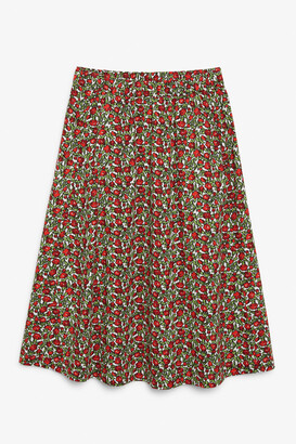Monki Flowy midi skirt