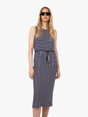 Warehouse Stripe Utility Midi Dress