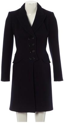Alaia Navy Wool Coat for Women