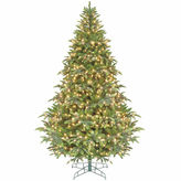 Asstd National Brand 7.5' Pre-Lit Ready Shape Instant Power Cascade IPTChristmas Tree with Clear Lights