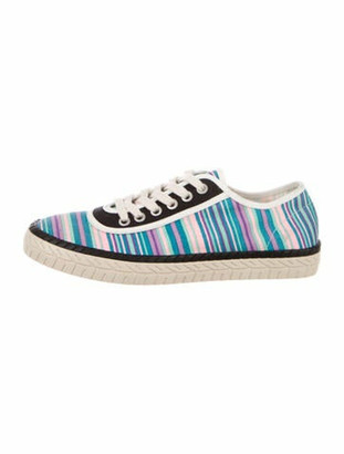 Marni Canvas Low-Top Sneakers Blue