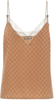 Gucci GG silk-crepe camisole