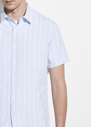 Vince Variegated Stripe Short Sleeve