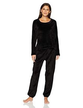 Mae Amazon Brand Women's Sleepwear Marshmallow Fleece Pullover Top and Jogger Pajama Set