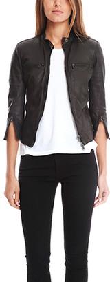 R 13 Cafe Racer Leather Jacket
