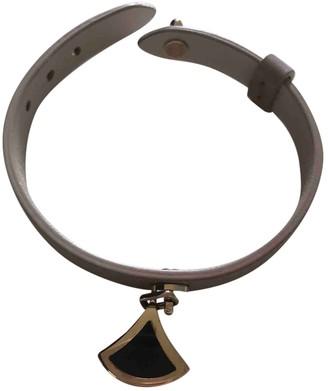 Bvlgari Serpenti Ecru Leather Bracelets