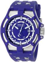 Invicta Men's 0626 Reserve Collection Akula GMT Blue Dial Blue Polyurethane Watch