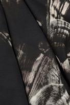 Fendi Printed silk-blend cady gown
