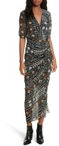 Veronica Beard Women's Perla Ruched Midi Dress