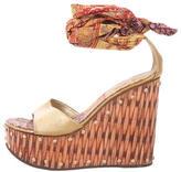 Giuseppe Zanotti Metallic Wedge Sandals