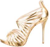 Oscar de la Renta Metallic Bree Cage Sandals w/ Tags