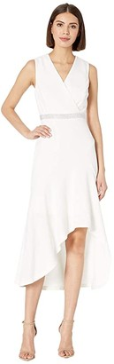 Calvin Klein High-Low Gown with Embellished Waist