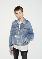 R 13 Raglan Trucker Denim Jacket
