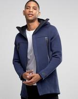 Nike Tech Fleece Longline Jacket With 3m Detail In Blue 805142-473
