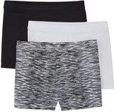 Maidenform 3 Pair Solid Playground Shorts