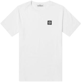 Stone Island Garment Dyed Patch Logo Tee White - S | cotton | white - White/White