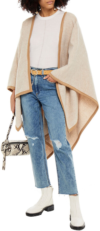 Thumbnail for your product : Rag & Bone Nina Distressed High-rise Tapered Jeans
