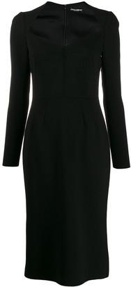 Dolce & Gabbana long sleeve pencil dress