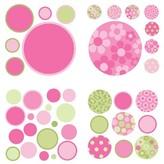 Brewster WallPops!® MiniPOPS Gone Dotty Decals - Pink/Brown