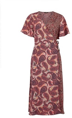 Dorothy Perkins Womens Only Multi Coloured Mix And Match Paisley Print Wrap Dress